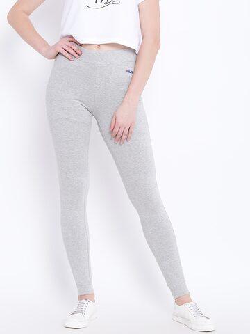 FILA Women Solid Grey Melange Tara Track Pants FILA Track Pants at myntra