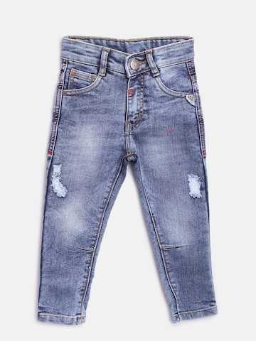612 league Boys Blue Mid-Rise Low Distress Stretchable Jeans 612 league Jeans at myntra