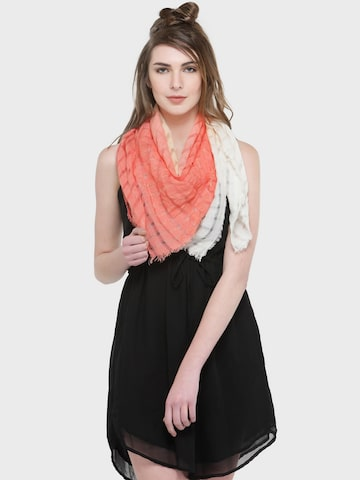 J Style Orange Dyed Scarf J Style Scarves at myntra