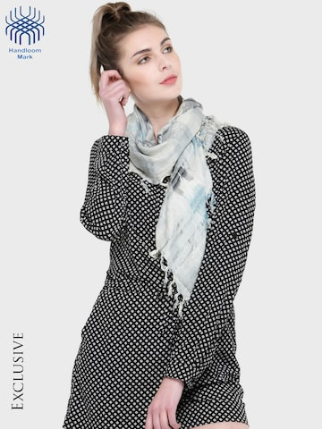 J Style Grey Printed Scarf J Style Scarves at myntra