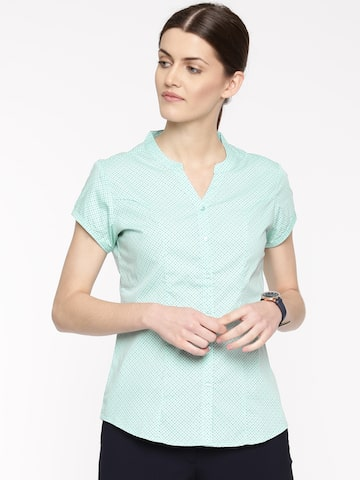 Arrow Woman Sea Green Original Regular Fit Printed Casual Shirt Arrow Woman Shirts at myntra