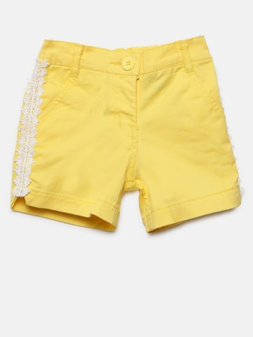 Baby League Girls Yellow Solid Shorts Baby League Shorts at myntra