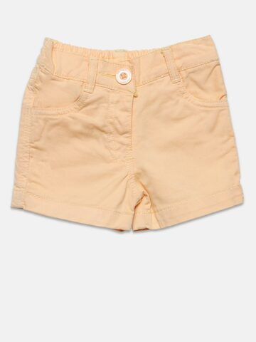 Baby League Girls Peach-Coloured Shorts Baby League Shorts at myntra