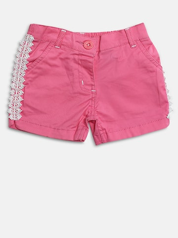 Baby League Girls Pink Lace Detail Regular Fit Regular Shorts Baby League Shorts at myntra