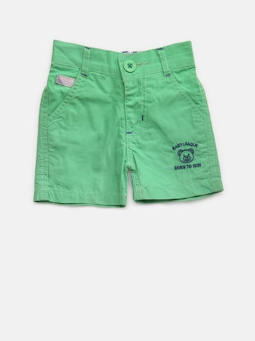Baby League Boys Green Solid Shorts Baby League Shorts at myntra