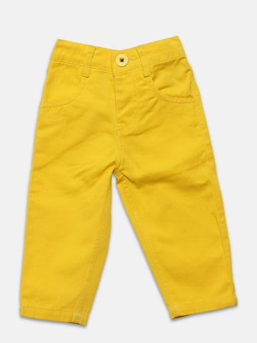 Baby League Boys Yellow Solid Trousers Baby League Trousers at myntra