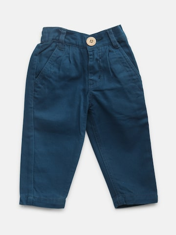 Baby League Boys Teal Blue Solid Trousers Baby League Trousers at myntra