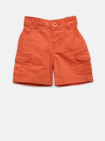Baby League Boys Orange Solid Cargo Shorts Baby League Shorts at myntra