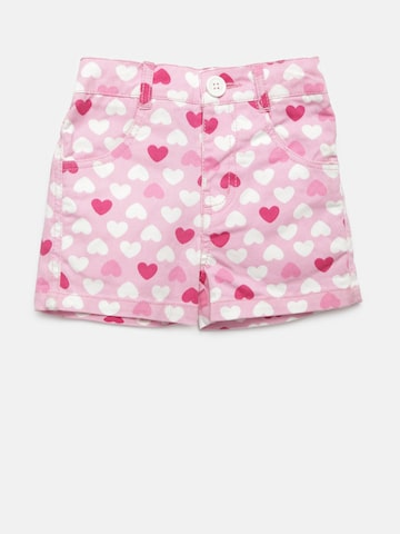 612 league Girls Pink Heart Print Shorts 612 league Shorts at myntra