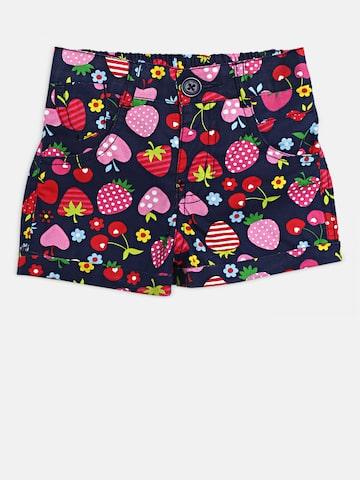 612 league Girls Navy Blue & Pink Printed Regular Fit Regular Shorts 612 league Shorts at myntra