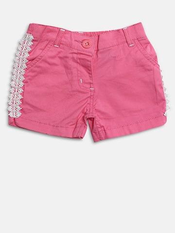 Baby League Girls Pink Solid Regular Fit Regular Shorts Baby League Shorts at myntra