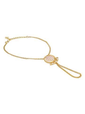 Sia Art Jewellery Gold-Toned Metal Bangle-Style Bracelet Sia Art Jewellery Bracelet at myntra
