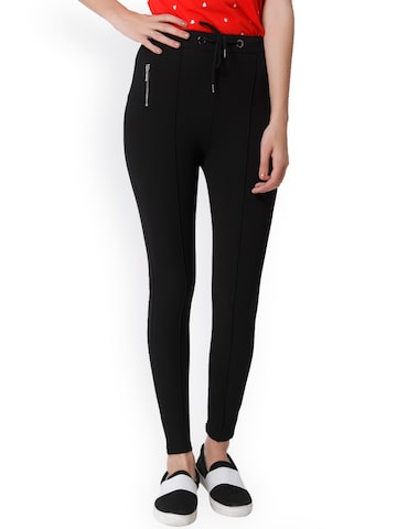 ONLY Women Black Jeggings ONLY Jeggings at myntra