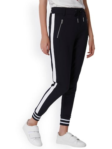 ONLY Women Navy Loose Fit Solid Regular Trousers ONLY Trousers at myntra