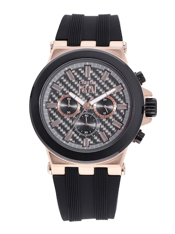 Cerruti 1881 Men Gunmetal-Toned Chronograph Watch CRA174SRB61BK Cerruti 1881 Watches at myntra
