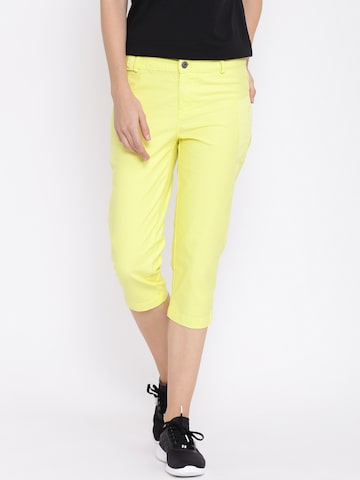 PUMA Yellow Capris at myntra