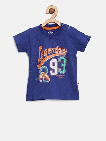 Baby League Boys Navy Blue Printed T-shirt Baby League Tshirts at myntra