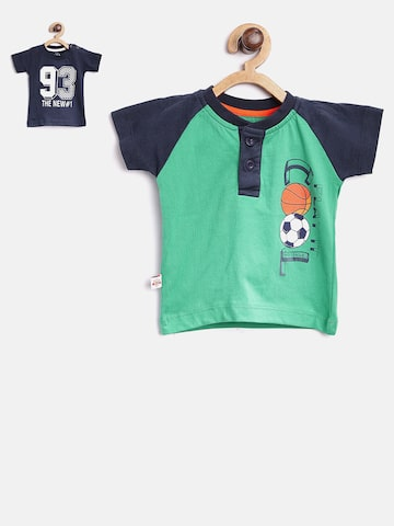 Baby League Boys Pack of 2 Printed Round Neck T-shirts Baby League Tshirts at myntra