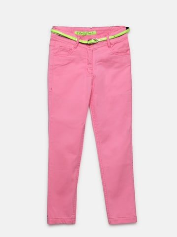 612 Ivy League Girls Pink Trousers 612 Ivy League Trousers at myntra
