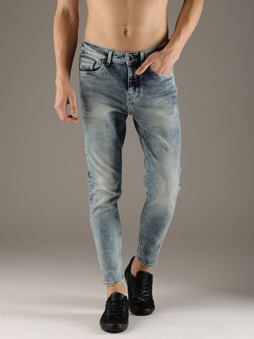 Flying Machine Men Blue MJ Mankle Relaxed Fit Clean Look Stretchable Cropped Jeans Flying Machine Jeans at myntra