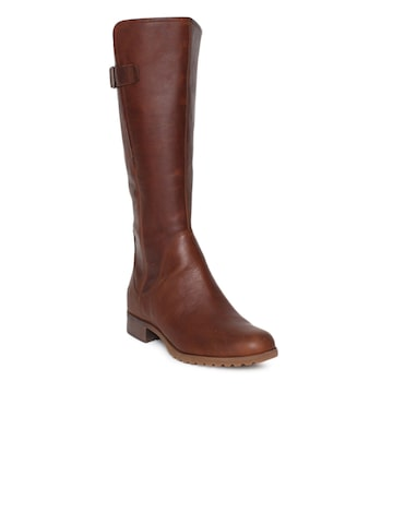 Timberland Women Brown BANFIELD WIDE Flat Boots Timberland Casual Shoes at myntra
