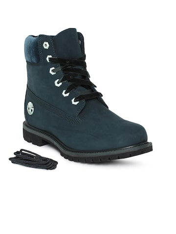 Timberland Women Teal Solid Leather Mid-Top Sneakers Timberland Casual Shoes at myntra