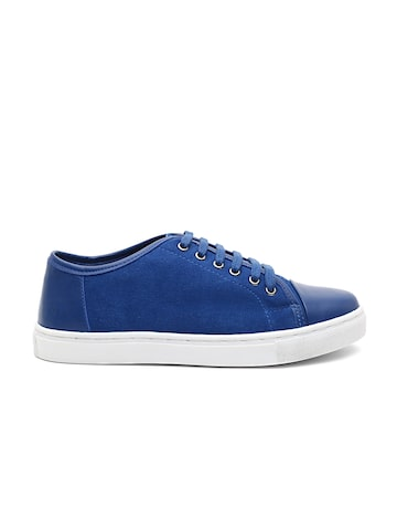 United Colors of Benetton Men Blue Suede Leather Sneakers United Colors of Benetton Casual Shoes at myntra