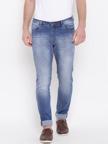 Blackberrys Men Blue Slim Fit Low-Rise Clean Look Stretchable Jeans Blackberrys Jeans at myntra