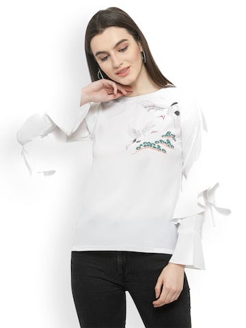 plusS Women White Solid Top plusS Tops at myntra