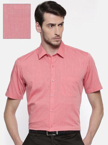 Peter England Men Pink Nuvo Regular Fit Solid Formal Shirt Peter England Shirts at myntra