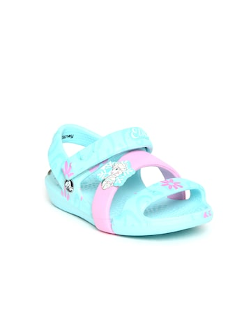 Crocs Girls Blue Comfort Sandals Crocs Sandals at myntra