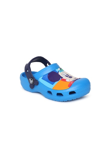 Crocs Kids Navy Blue Clogs Crocs Sandals at myntra