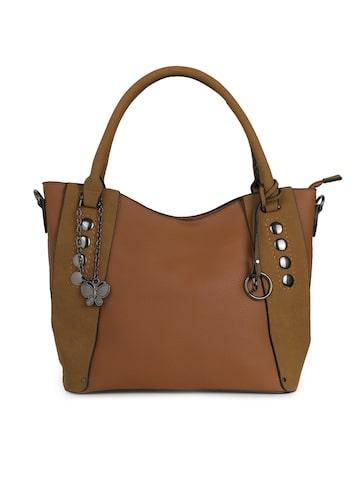 Butterflies Brown Solid Handheld Bag Butterflies Handbags at myntra