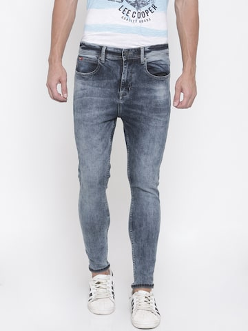 Lee Cooper Men Blue Tapered Fit Low-Rise Clean Look Stretchable Jeans Lee Cooper Jeans at myntra