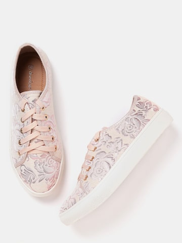 DressBerry Women Pink Patterned Sneakers DressBerry Casual Shoes at myntra