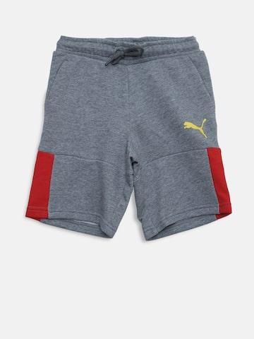Puma Boys Grey Melange Justice League Bermuda Shorts Puma Shorts at myntra