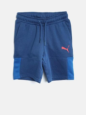 Puma Boys Blue Solid Justice League Bermuda Shorts Puma Shorts at myntra