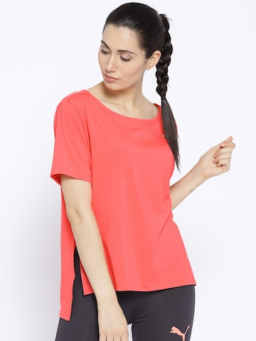 Puma Women Pink Transition Solid Styled Back Top Puma Tops at myntra
