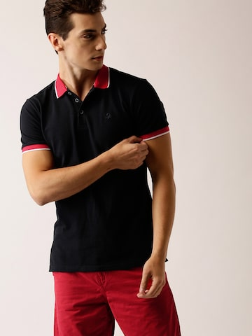 United Colors of Benetton Men Navy Blue Solid Polo Collar T-shirt United Colors of Benetton Tshirts at myntra