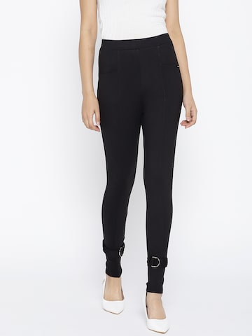 ONLY Women Black Solid Treggings ONLY Jeggings at myntra