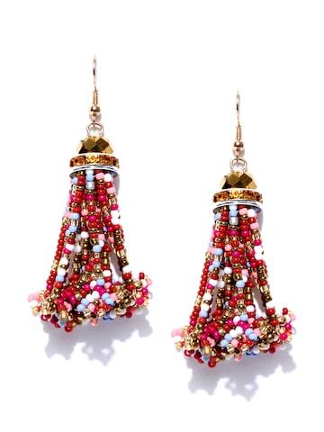 ToniQ Multicoloured Contemporary Drop Earrings ToniQ Earrings at myntra