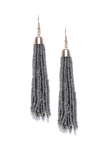 ToniQ Grey Contemporary Drop Earrings ToniQ Earrings at myntra
