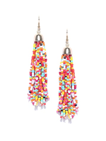 ToniQ Multicoloured Contemporary Drop Earrings ToniQ Earrings at myntra
