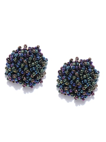 ToniQ Blue & Green Contemporary Studs ToniQ Earrings at myntra