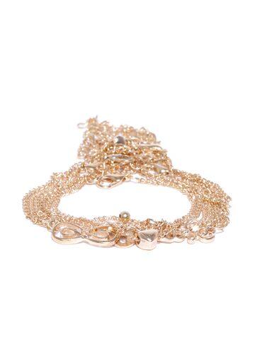 ToniQ Set of 6 Gold-Toned Bracelets ToniQ Bracelet at myntra