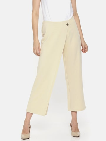 Vero Moda Women Beige Comfort Loose Fit Solid Anti Fit Trousers Vero Moda Trousers at myntra