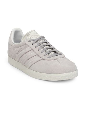 Adidas Originals Women Grey Gazelle Stitch And Turn Sneakers Adidas Originals Casual Shoes at myntra