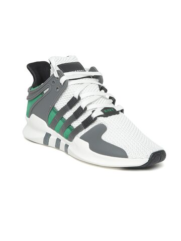 Adidas Originals Women White & Grey EQT Support ADV Sneakers Adidas Originals Casual Shoes at myntra