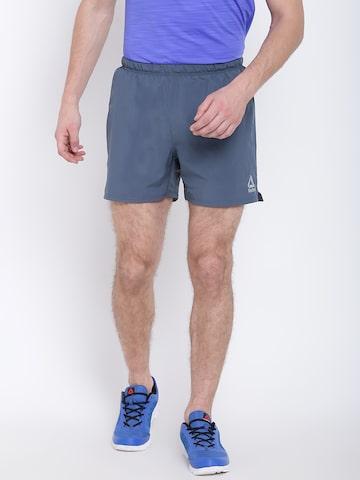 Reebok Men Grey OSR 5 Inch Running Shorts Reebok Shorts at myntra