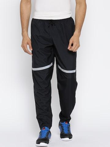 Reebok Men Black Running Track Pants Reebok Track Pants at myntra